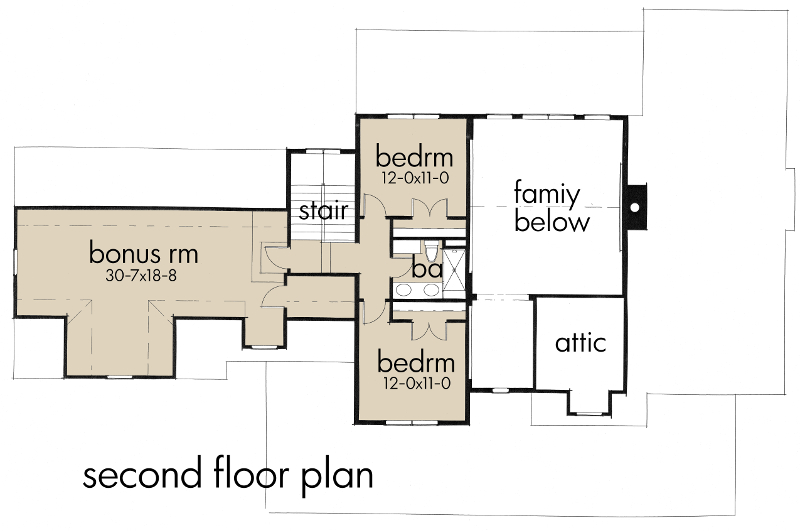 Second Floor Plan image of Featured House Plan: BHG - 5521