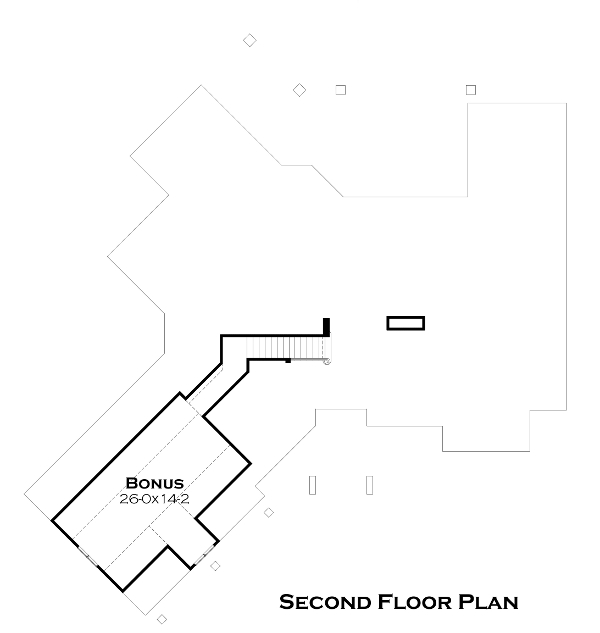 Second Floor Plan image of Featured House Plan: BHG - 5252