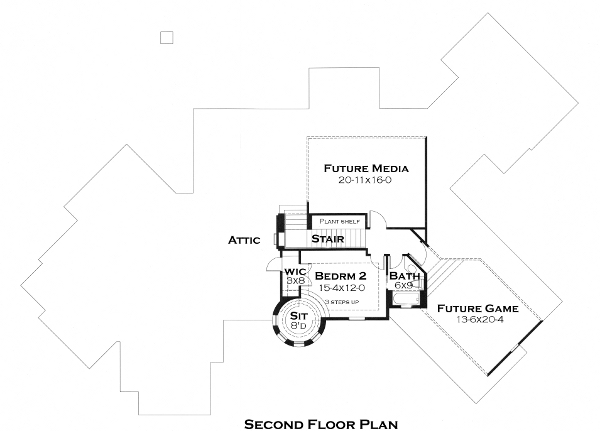 Second Floor Plan image of Featured House Plan: BHG - 5284