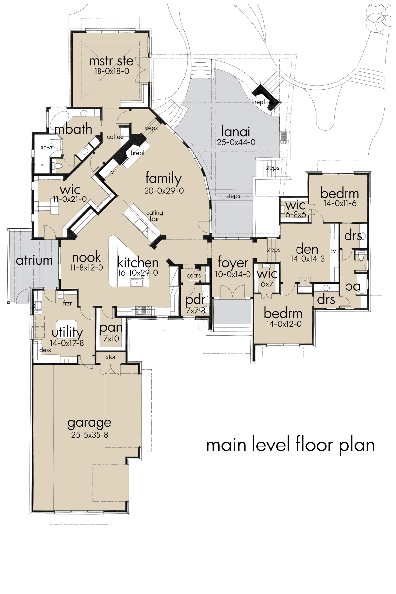 First Floor Plan image of Featured House Plan: BHG - 5520