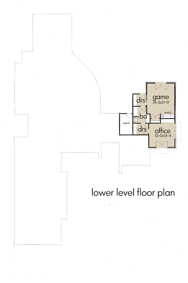 Lower Level Plan image of Featured House Plan: BHG - 5520