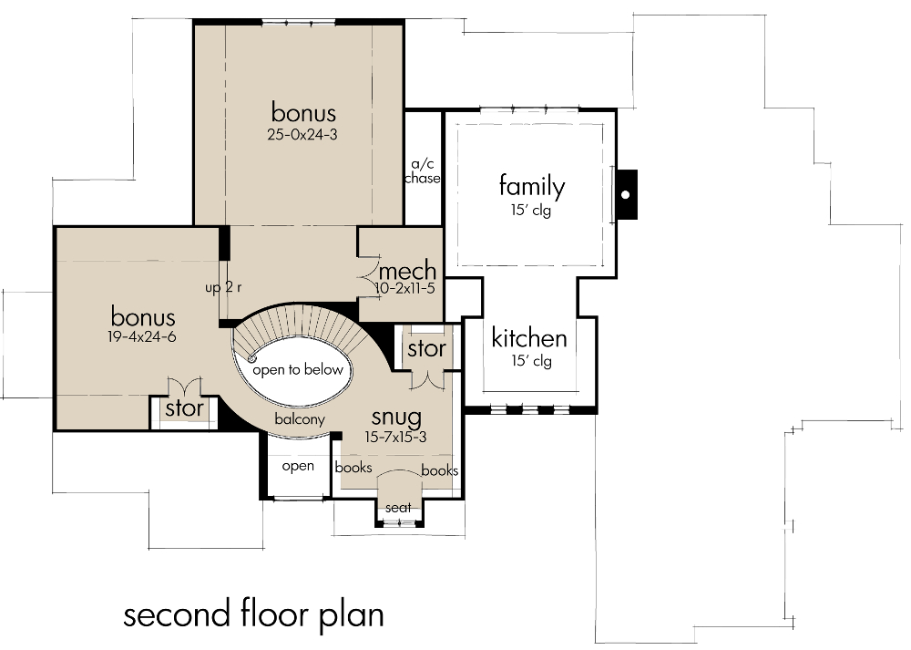 Second Floor Plan image of Featured House Plan: BHG - 9658