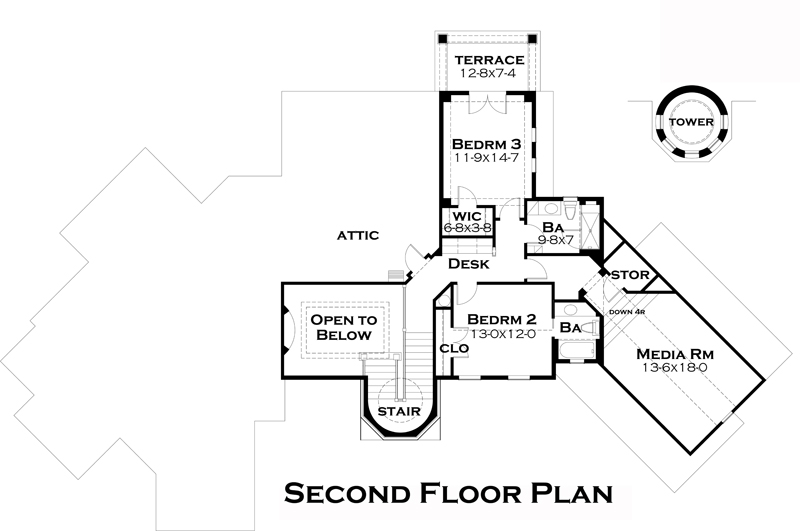 Second Floor Plan image of Featured House Plan: BHG - 5285