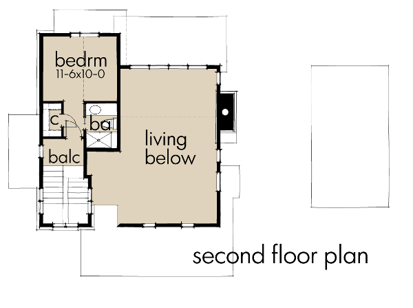 Second Floor Plan image of Featured House Plan: BHG - 9040