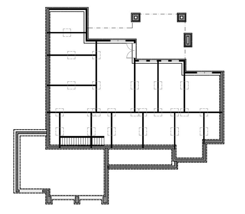 Walkout Basement Floor Plan image of Featured House Plan: BHG - 9167