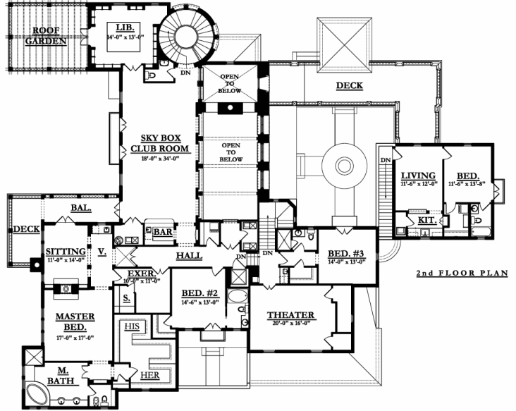 2nd Floor Plan image of Featured House Plan: BHG - 9724
