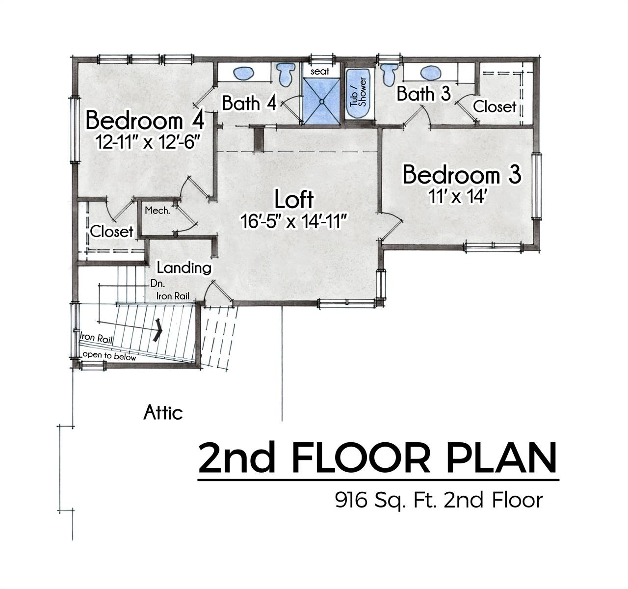 2nd Floor image of Featured House Plan: BHG - 9091