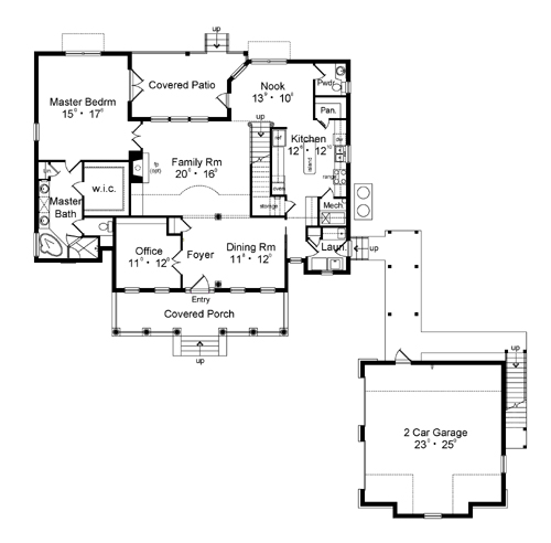 First Floor Plan image of Featured House Plan: BHG - 3146