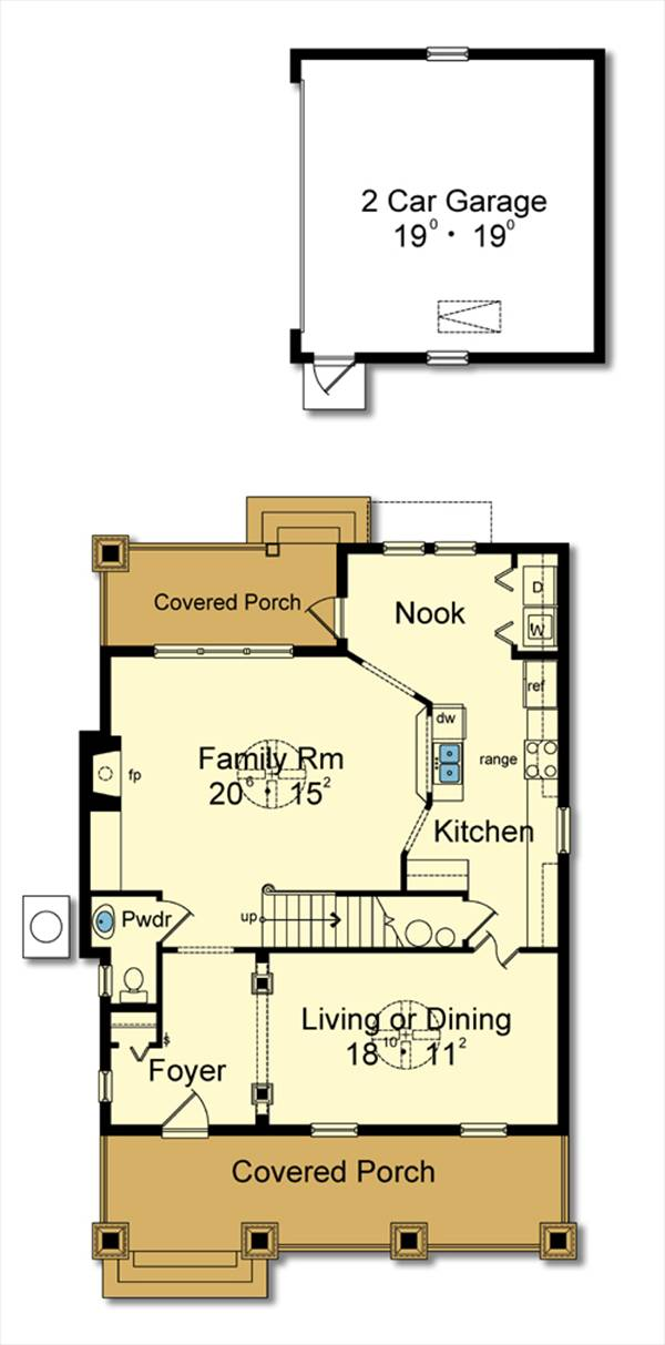 First Floor Plan image of Featured House Plan: BHG - 3084
