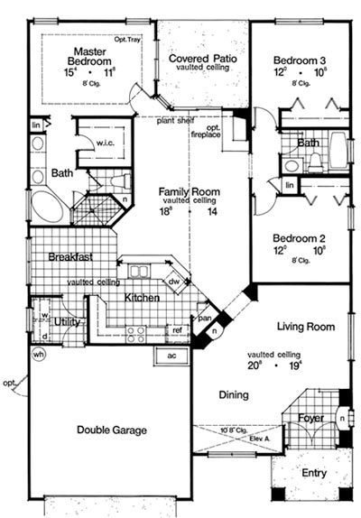 First Floor Plan image of Featured House Plan: BHG - 4446