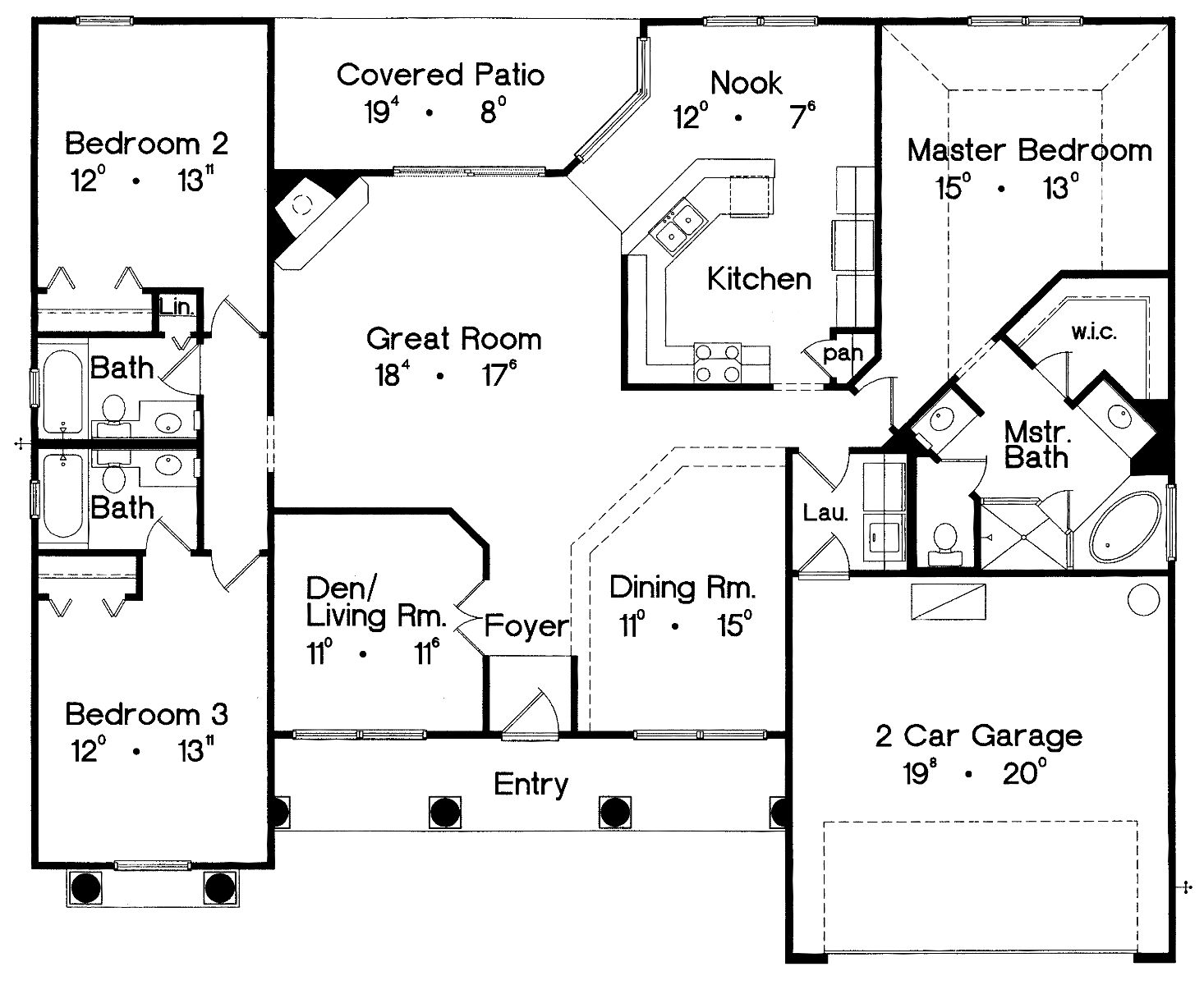 Floor Plan image of Featured House Plan: BHG - 5069