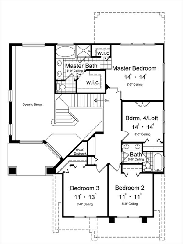 Second Floor Plan image of Featured House Plan: BHG - 7009