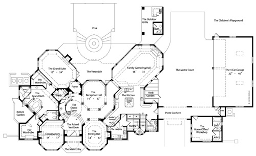 First Floor Plan image of Featured House Plan: BHG - 4429