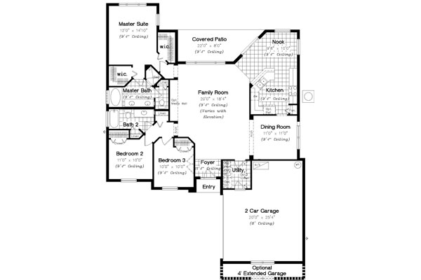 Floor Plan image of Featured House Plan: BHG - 4908