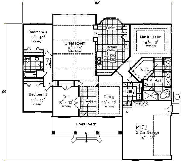 Floor Plan image of Featured House Plan: BHG - 4927