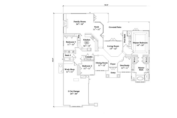 Floor Plan image of Featured House Plan: BHG - 4938