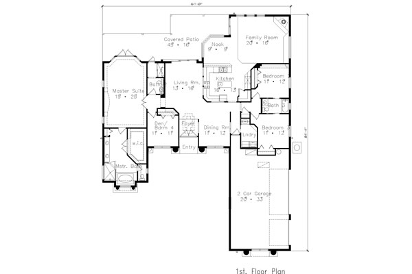Floor Plan image of Featured House Plan: BHG - 4911