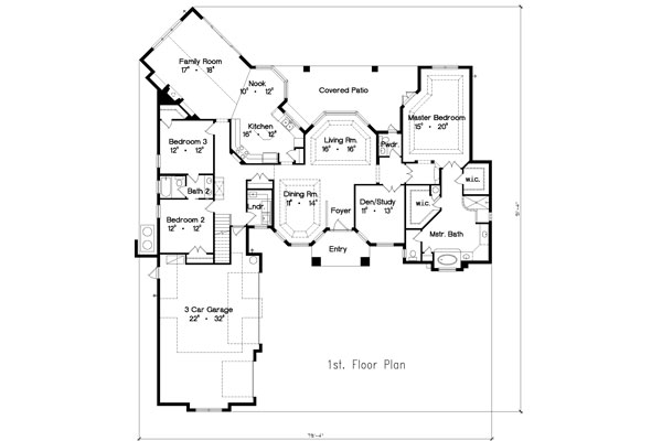 First Floor Plan image of Featured House Plan: BHG - 4933