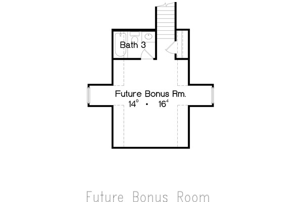 Bonus Room image of Featured House Plan: BHG - 4933