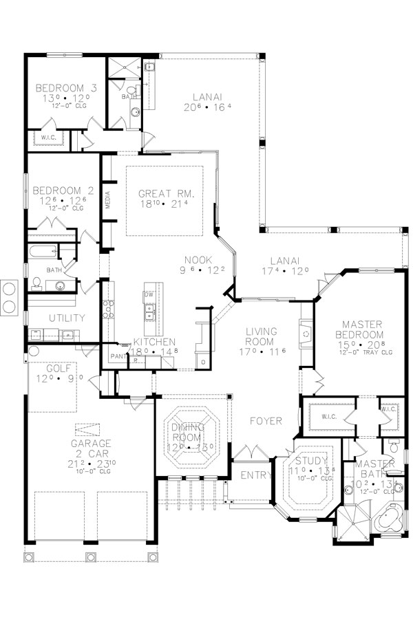 Floor Plan image of Featured House Plan: BHG - 4939