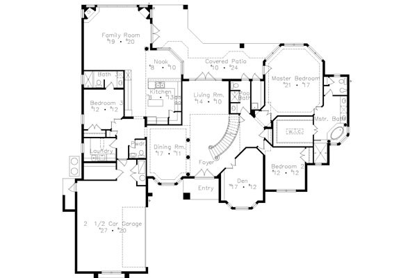 First Floor Plan image of Featured House Plan: BHG - 4940