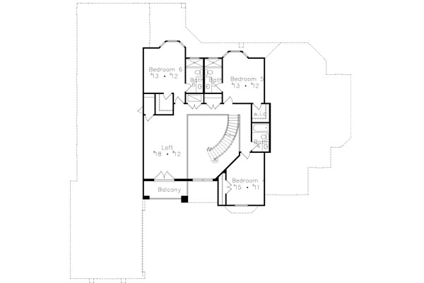 Second Floor Plan image of Featured House Plan: BHG - 4940