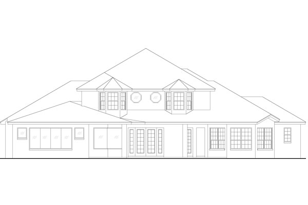Rear Elevation image of Featured House Plan: BHG - 4940