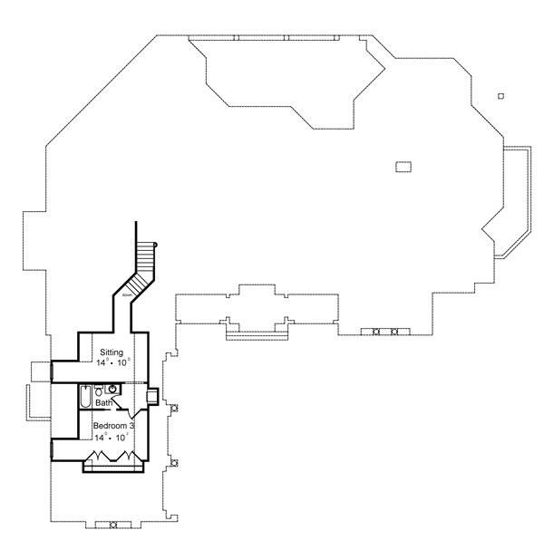 Second Floor Plan image of Featured House Plan: BHG - 4952