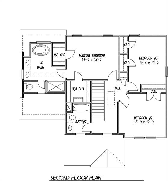 2nd Floor Plan image of Featured House Plan: BHG - 6925