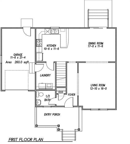 1st Floor Plan image of Featured House Plan: BHG - 6925