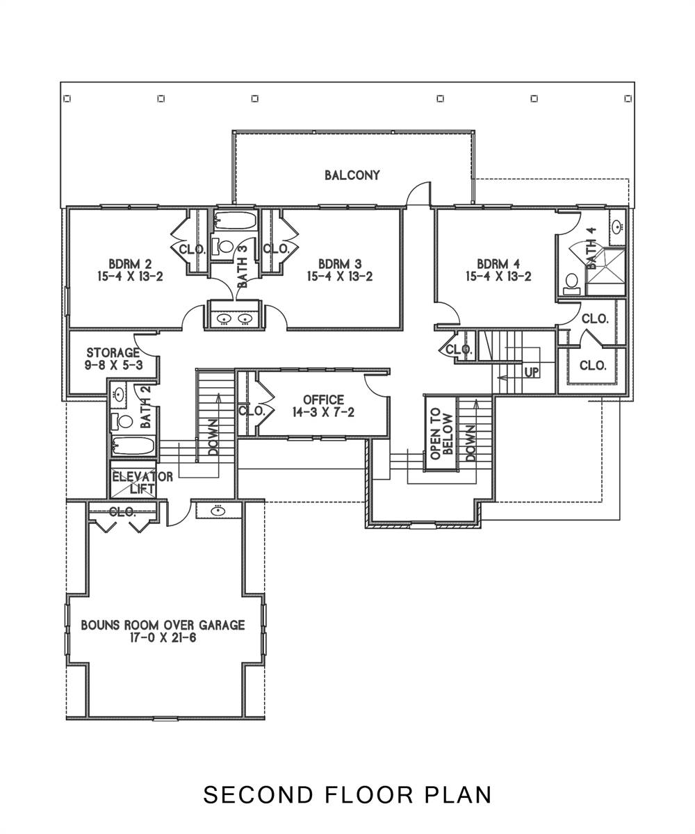 2nd Floor image of Featured House Plan: BHG - 8607