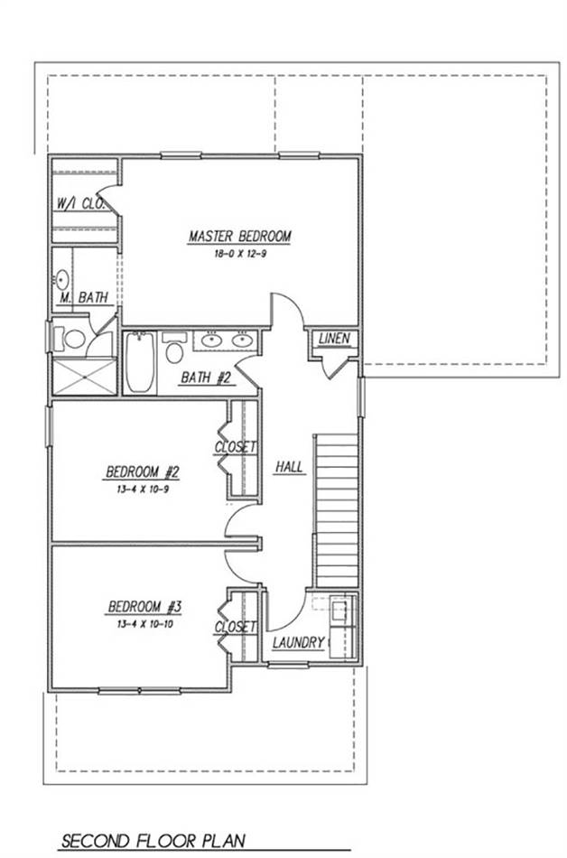 2nd Floor Plan image of Featured House Plan: BHG - 1990