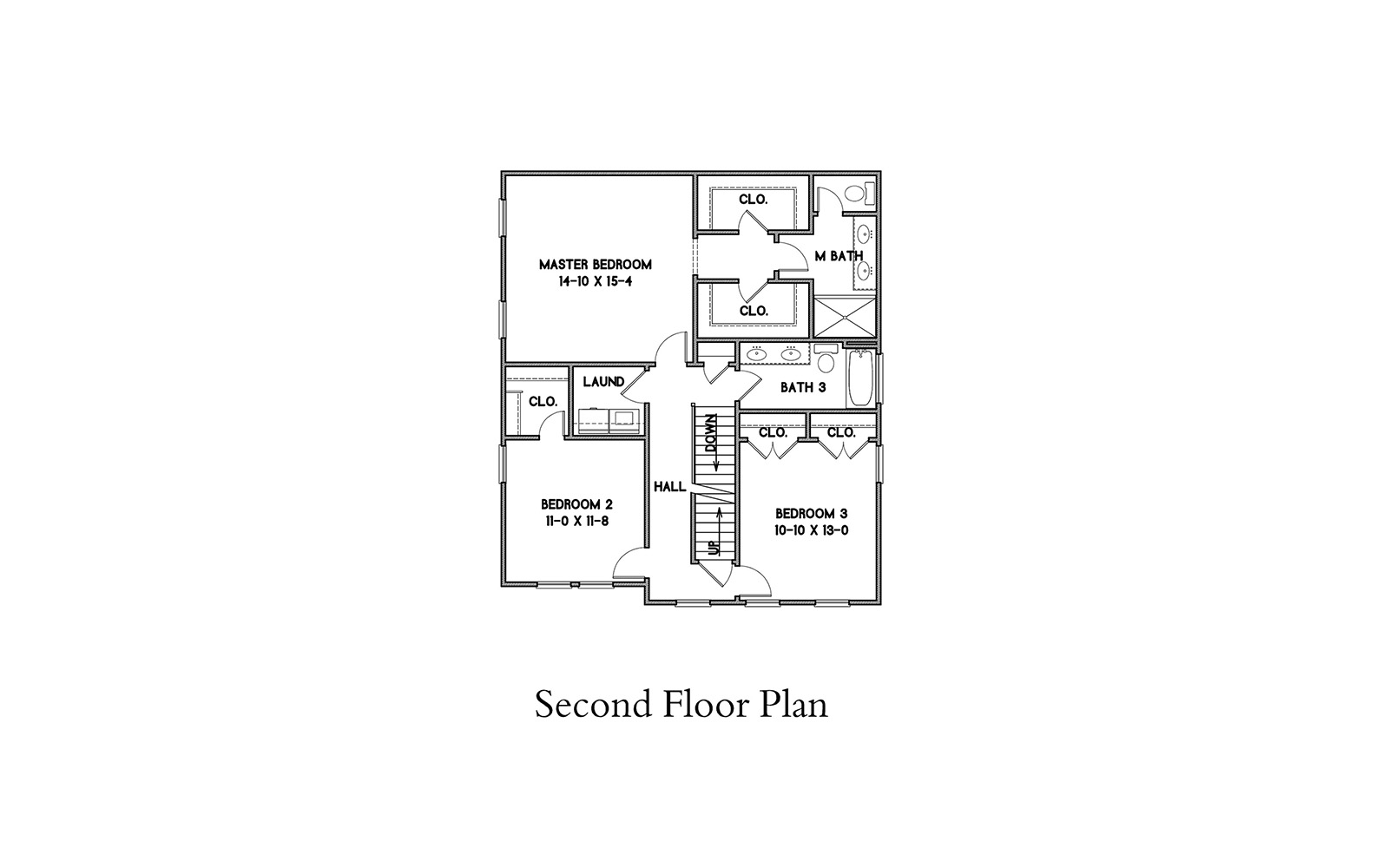 Second Floor Plan image of Featured House Plan: BHG - 6918