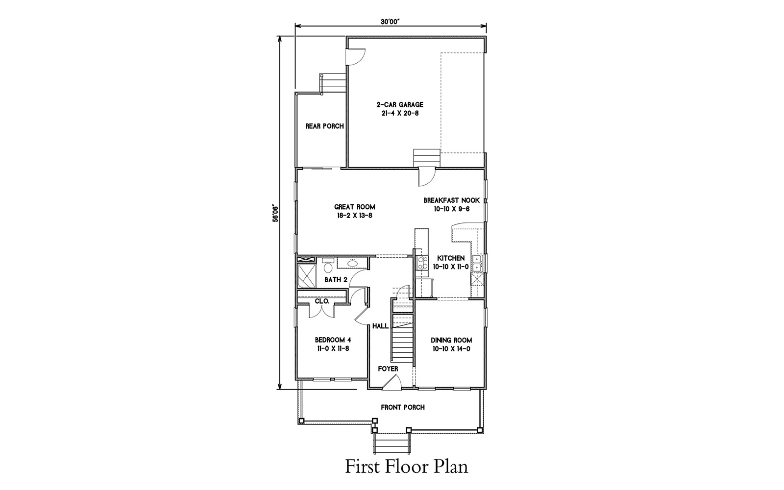 First Floor Plan image of Featured House Plan: BHG - 6918