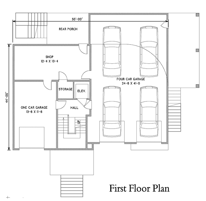 1st Floor Plan image of Featured House Plan: BHG - 7182