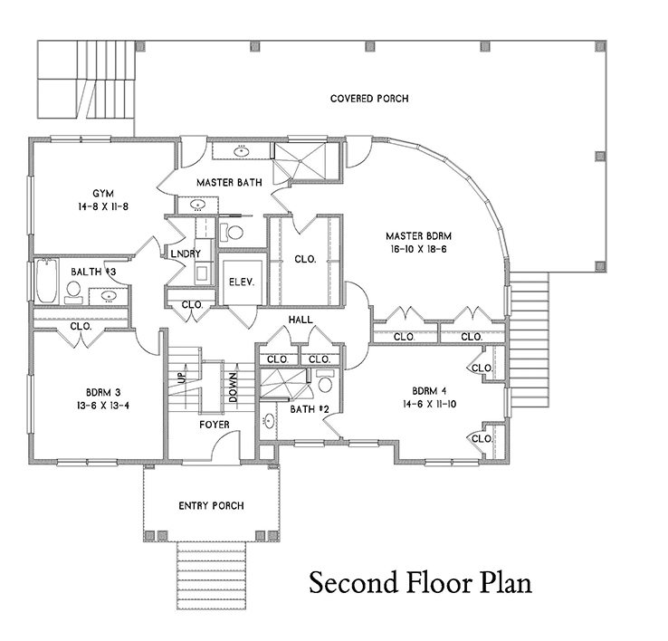 2nd Floor Plan image of Featured House Plan: BHG - 7182