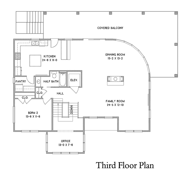 3rd Floor Plan image of Featured House Plan: BHG - 7182