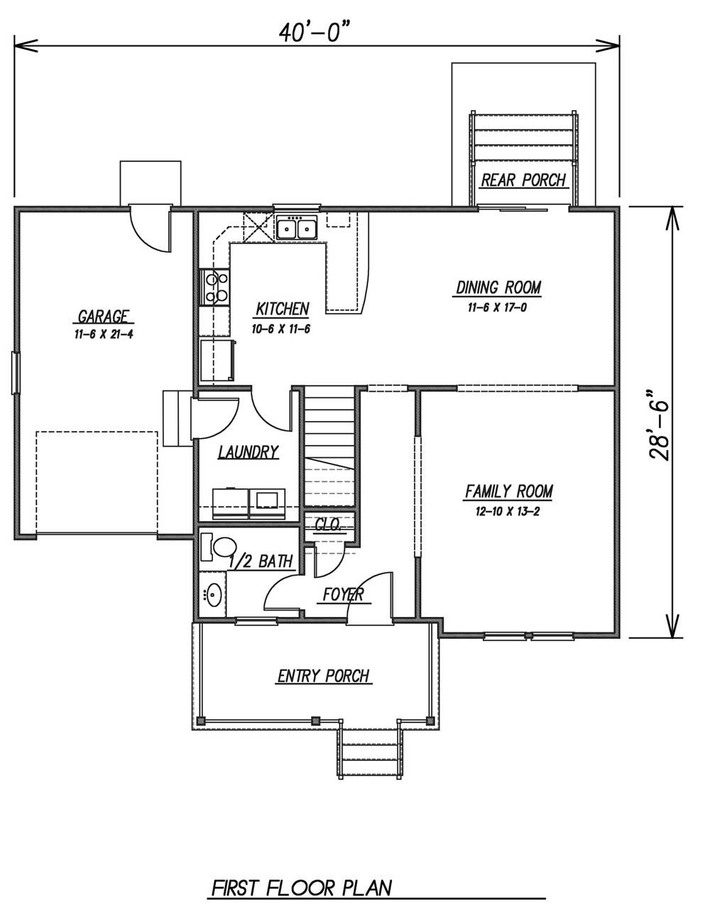 1st Floor Plan image of Featured House Plan: BHG - 1623