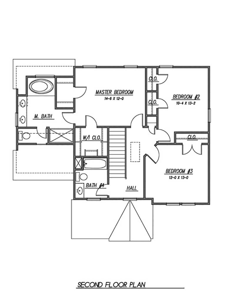 2nd Floor Plan image of Featured House Plan: BHG - 1623