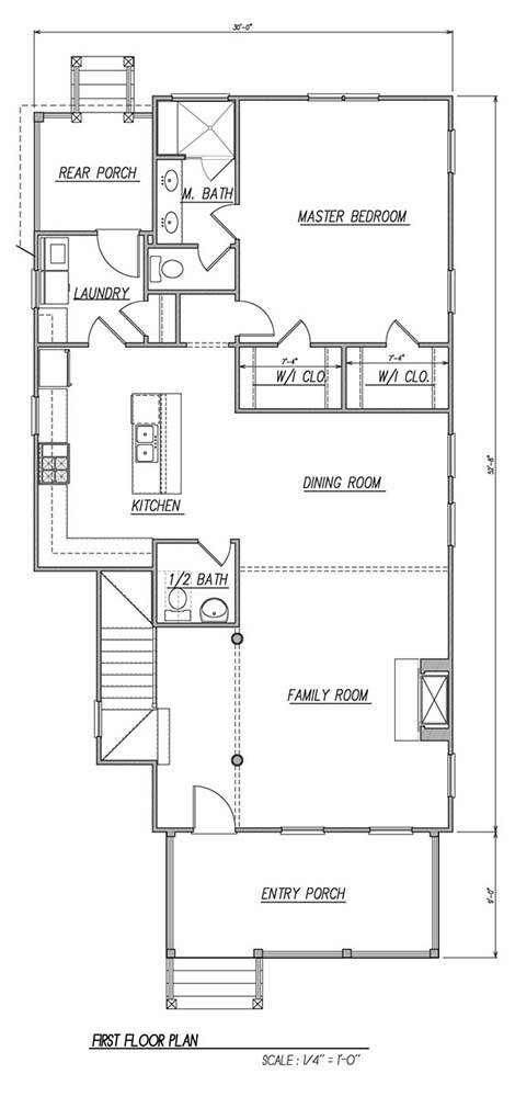 1st Floor Plan image of Featured House Plan: BHG - 1611
