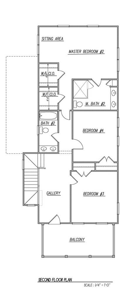 2nd Floor Plan image of Featured House Plan: BHG - 1611