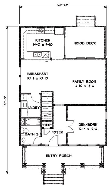 Front Elevation image of Featured House Plan: BHG - 9308