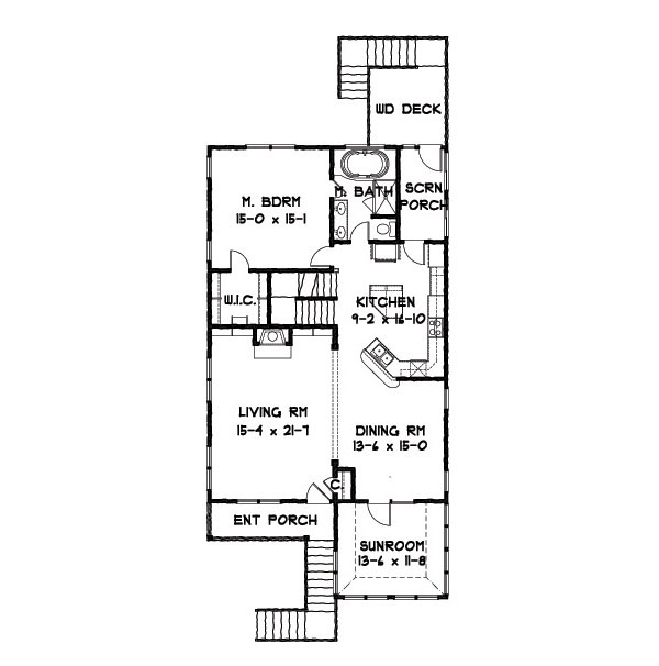 2nd Floor Plan image of Featured House Plan: BHG - 9152