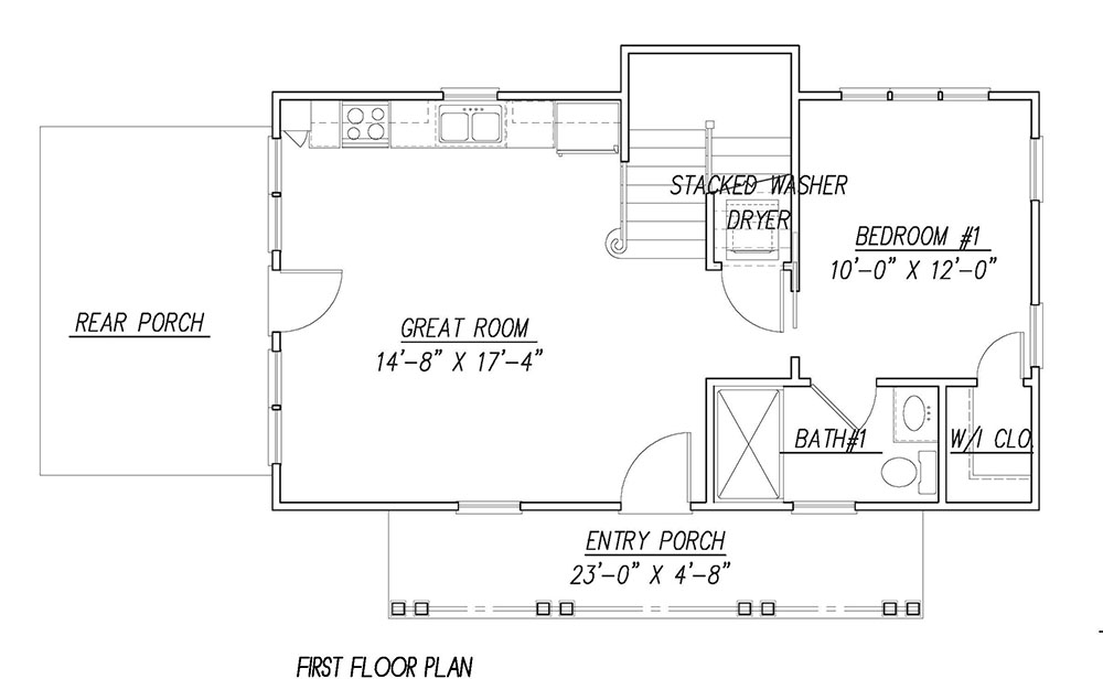 1st Floor Plan image of Featured House Plan: BHG - 1441
