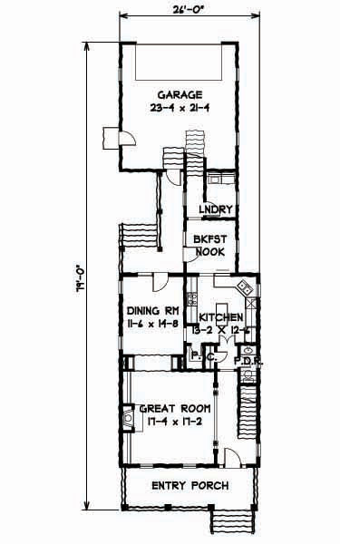 1st Floor Plan image of Featured House Plan: BHG - 9323