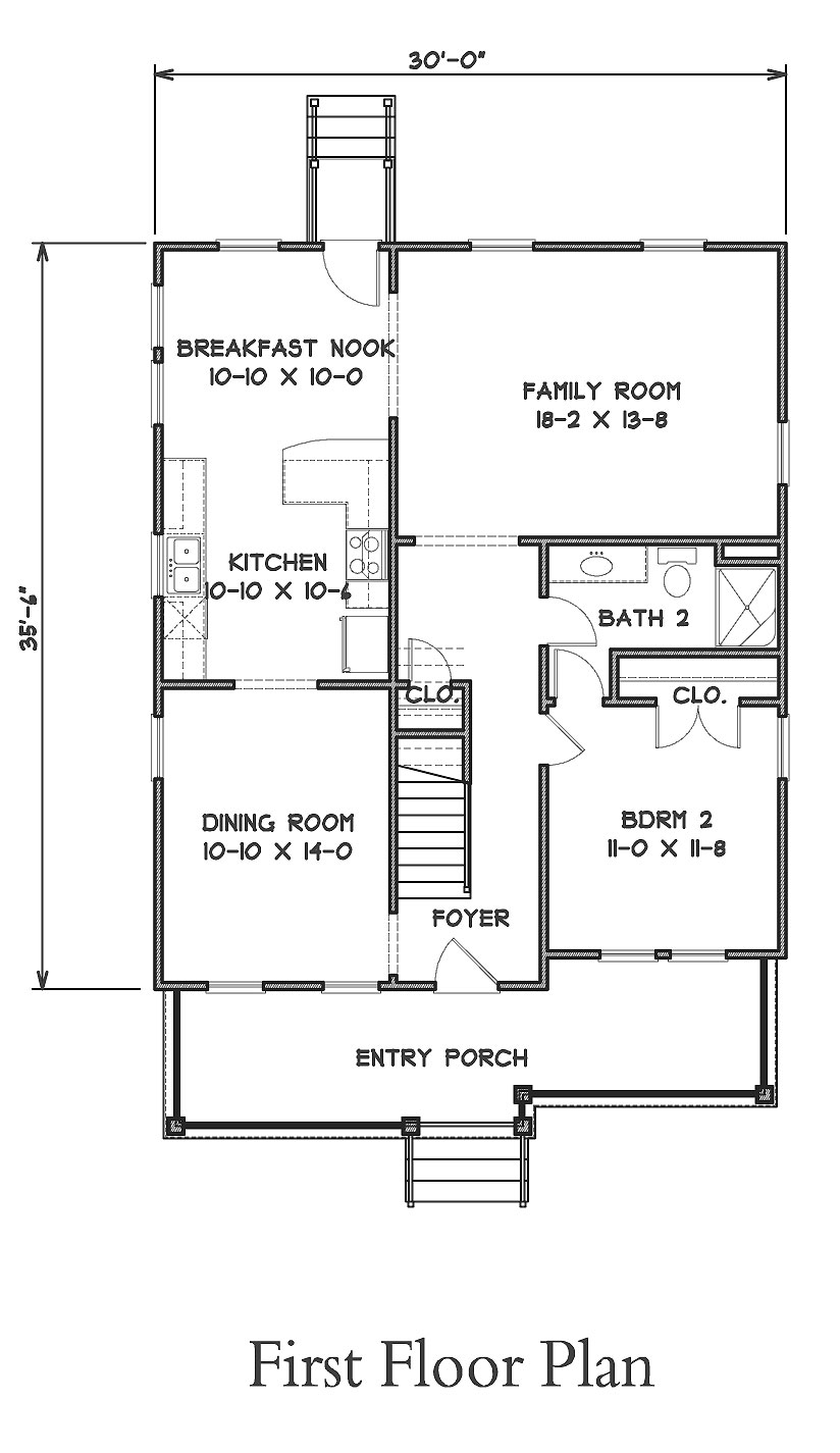 1st Floor Plan image of Featured House Plan: BHG - 9302