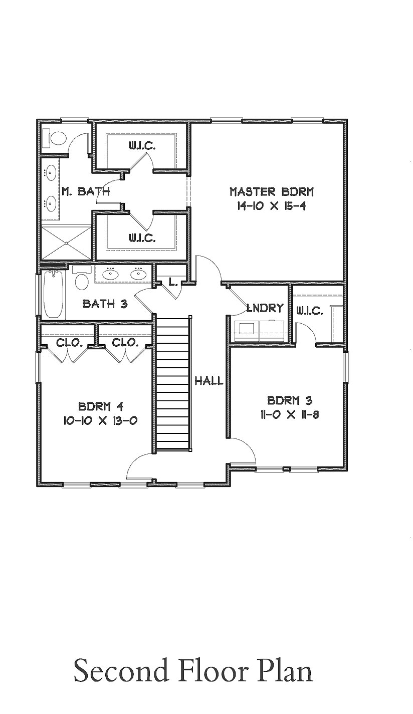 2nd Floor Plan image of Featured House Plan: BHG - 9302