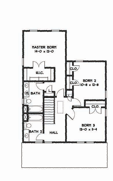 2nd Floor Plan image of Featured House Plan: BHG - 9307