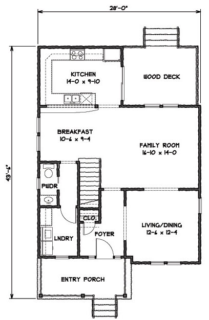 1st Floor Plan image of Featured House Plan: BHG - 9321