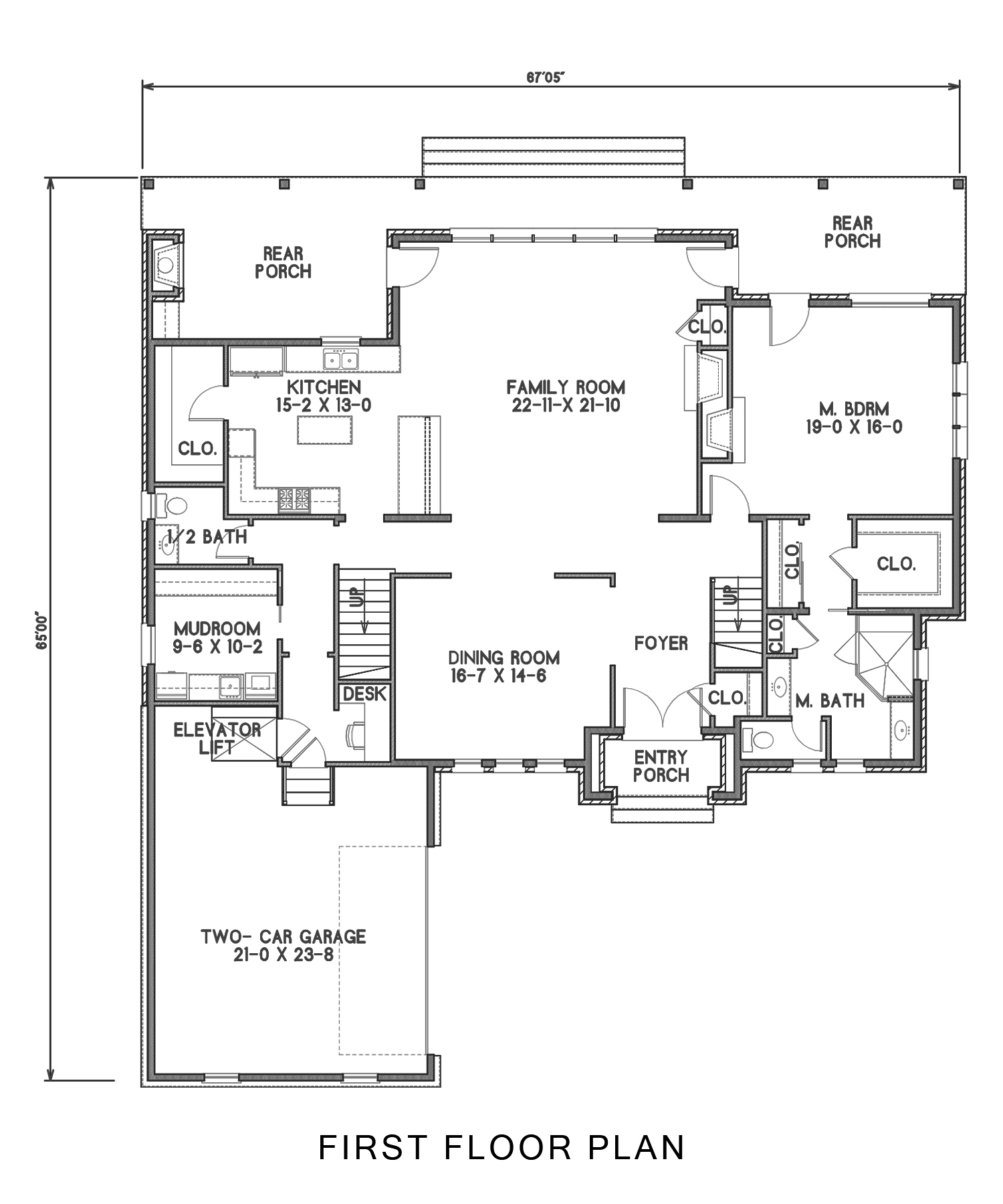 1st Floor image of Featured House Plan: BHG - 8607